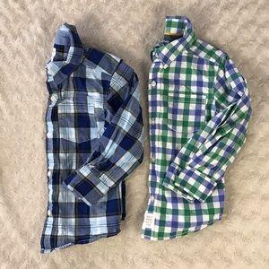 Carter's 3T Button Down Shirt Bundle Plaid Blue